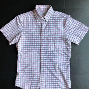 Mizzen+Main Short Sleeve WHITE Check Trim Fit USA